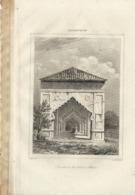 AFGHANISTAN TOMBEAU DU SULTAN BABER 1835 INCISIONE DI LEMAITRE - Prints & Engravings