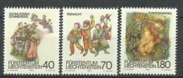 LIECHTENSTEIN  1983 CARNIVAL,TRADITIONS SET MNH - Celebrations