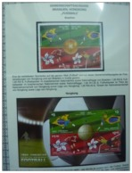 Emissioni Congiunte BRASILE 2009, Football 4v, Joint Issue Hong Kong  2 Serie Cpl. 4v.+ BF Nuovi** - Emissions Communes