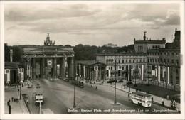 Mitte-Berlin Pariser Platz Mit Brandenburger Tor Im Olympiaschmuck 1936 - Brandenburger Door