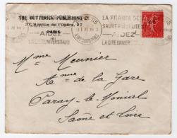 * - Lettre De 1927 De La Société Butterick Publishing - Timbres Perforés AG - Paris Pour Paray Le Monial - Postmark Collection (Covers)