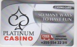 CASINO CARD - 430 - BULGARIA - PLATINUM CASINO - Casino Cards
