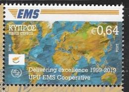 CYPRUS, 2019, MNH,  EMS, UPU EMS COOPERATION,  1v - Correo Postal