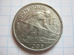 1 Franc 1935 - Luxemburgo