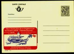BELGIA Publibel  Bateau Hydrojet Sealink Ostende Douvres Entier Postal - Stamped Stationery