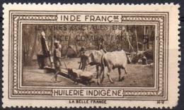 Vignette INDE FRANCse HUILERIE INDIGENE (Oeuvres Sociales De La France Combattante) - Neuve Avec Charnière  Mint Hinged - Erinnophilie