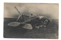 Liancourt-Fosse Somme AVION DETRUIT CARTE PHOTO AVIATION WW1 /FREE SHIPPING R - Aviation