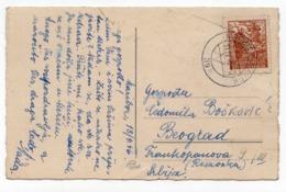 1946 YUGOSLAVIA, SLOVENIA, EASTER CARD, TPO 39  MARIBOR - RAKEK, SENT TO BELGRADE, ILLUSTRATED POSTCARD, USED - Joegoslavië