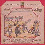 Protége Cahier Ancien Fin XIXéme Collection Serie INSTRUCTIVE  Dep De La HAUTE-SAONE ( Combat De Villersexel ) - Book Covers
