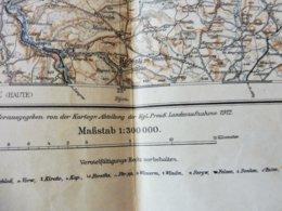 1912 Ûbersichtskarte   NANCY   Dimensions Hors-tout = 52cm X 45cm - Landkarten