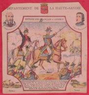 Protége Cahier Ancien Fin XIXéme Collection Serie INSTRUCTIVE  Dep De La HAUTE-SAVOIE ( Entrée Des Français à Annecy ) - Protège-cahiers