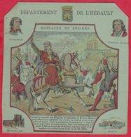 Protége Cahier Ancien Fin XIXéme Collection Serie INSTRUCTIVE  Dep De L'HERAULT ( Massacre De Béziers ) - Book Covers