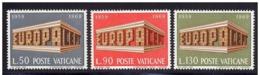 VATICANO 1969 - EUROPA CEPT - YVERT 488/490** - Europa-CEPT