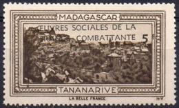 Vignette MADAGASCAR TANANARIVE (Oeuvres Sociales De La France Combattante) - Neuve Sans Charnière - Turismo (Vignette)