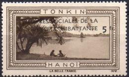 Vignette TONKIN HANOI (Oeuvres Sociales De La France Combattante) - Neuve Sans Charnière - Erinofilia