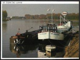1982  --  LA PENICHE STATION SERVICE ESSO A SAINT JEAN DE LOSNE  3R530 - Vieux Papiers