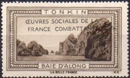 Vignette TONKIN BAIE D'ALONG (Oeuvres Sociales De La France Combattante) - Neuve Sans Charnière - Erinnophilie