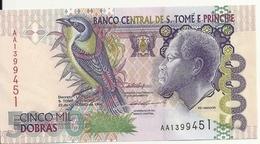 SAO TOME ET PRINCIPE 5000 DOBRAS 1996 UNC P 65 A - Sao Tomé Et Principe