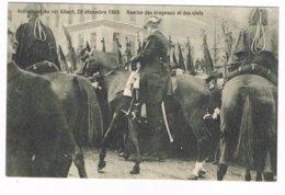 CPA N&b Avènement Du Roi Albert, 23/12/1909 - Remise Des Drapeaux Et Des Clefs - Familias Reales