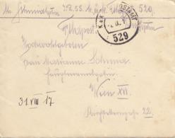 ÖSTERREICH 1917 - Kleiner Feldpostbrief Mit Inhalt Gel.v. K.u.K. Postamt 529 Nach Wien XVI - 1914-18