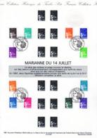 """(Faciale = 6.42 €) """" MARIANNE DU 14 JUILLET """" Sur Document Philatélique Officiel De 1997 En Parfait état. DPO - 1997-04 Maríanne Du 14 Juillet"""