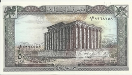 LIBAN 50 LIVRES 1988 UNC P 65 D - Libanon
