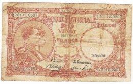 BELGIQUE - Billet De 20 FRANCS Du 12/05/1945 - 12014E0507 - NATIONALE BANK VAN BELGIE - 20 Franchi