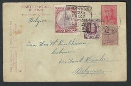 1923 ?? Albert Casque Gemengde Frankering Met Hongarije Van Thienen Bestuurder Ter Bank Heverlee   ( Klass  Heuroud  ) - Postcards [1909-34]