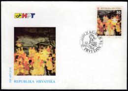 Croatia Zagreb 1992 / Christmas / Art, Painting / FDC - Croatia