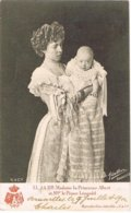 CPA N&b LL. AA. RR. Madame La Princesse Albert Et Mgr Le Prince Léopold - 1902 - Familias Reales