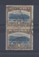 SOUTH AFRICA...KING GEORGE V.(1910-36)....10/- X VERTICAL PAIR.....SG39b.....USED........ - Gebraucht