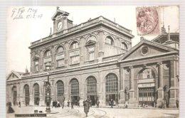 CPA Lille (59) La Gare Ecrite En 1907 - Lille