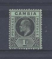 GAMBIA...KING EDWARD VII.(1901-10)....1/-.....SG81....MH.. - Gambia (...-1964)