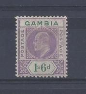 GAMBIA...KING EDWARD VII.(1901-10)....1/6.....SG82....MH.. - Gambia (...-1964)