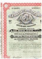 Titre Ancien - Cerveceria Palermo Sociedad Anónima - Titulo De 1926 - N°125114 - Industrie