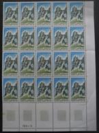 FRANCE N°2015a Gomme Tropicale En Bloc De 20 Neuf ** - Postzegels