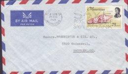 Mauritius Air Mail Slogan 'Savings Bank' PORT LOUIS 1969 Cover Brief WADENSWIL Switzerland Shell Meeresschnecke Stamp - Mauricio (1968-...)