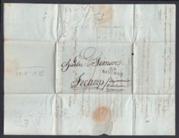 France 1802  - Precurseur De Bayonne à Fécamp ...... (VG) DC-4244 - Marcophilie (Lettres)