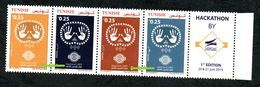 2019- Tunisia - 2019, International Year Of Indigenous Languages - Join Issue- UNO - Strip Of 5 Stamps - MNH** - Tunisia (1956-...)