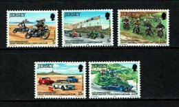 Jersey 1980 Sc # 231 / 235  MNH **  Motorcycles - Motorbikes