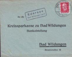 Deutsches Reich Boxed EDERSEEE Bad Wildungen Land Cds. BAD WILDUNGEN 1930 Cover Brief KREISSPARKASSE Bankabteilung - Deutschland