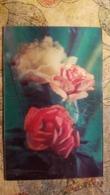 USSR . Roses  - Flower -  Old Color 3D Postcard  - Stereo 1980s - Stereoscopische Kaarten