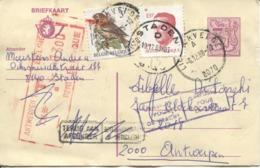 3460/ Entier CP 7,50+3F Buzin C.Lichervelde 1988 > Antwerpen C.Retour-Refusé Taxé 13 F Barré Réaffranchi Velghe C.Staden - Stamped Stationery