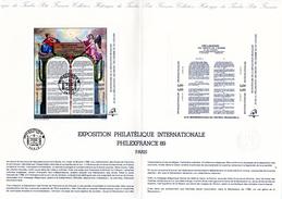 """"""" 200 ANS DE LA REVOLUTION FRANCAISE """" Sur Document Philatélique Officiel De 4 Pages De 1989 N° YT BF 11 En Parfait état - French Revolution"""