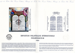 """"""" 200 ANS DE LA REVOLUTION FRANCAISE """" Sur Document Philatélique Officiel De 4 Pages De 1989 N° YT BF 11 En Parfait état - Franz. Revolution"""