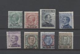 VALONA 1909-11 VALONA SERIE CPL. SOPRASTAMPATA  ** MNH - Bureaux D'Europe & D'Asie