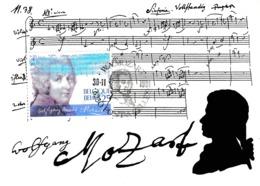 Carte Maximum Musique Belgique 1991 Mozart - Maximumkarten (MC)