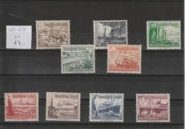 Deutsches Reich MNr. 651 - 659 **/MNH - Germany