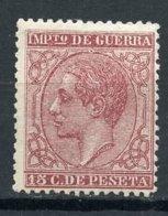 ALFONSO XII 1877,  NUEVO*. 15 CTS. - Nuevos
