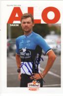 CARTE CYCLISTE ALO JAKIN  SIGNEE CHAMPION ESTONIE - Radsport